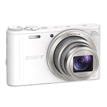 Sony Cyber-shot DSC-WX350 Compact camera, 18.2 MP, Optical zoom 20 x, Digital zoom 40 x, Image stabilizer, ISO 12800, Display diagonal 7.62 cm, Wi-Fi, Video recording, White