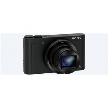 """Sony DSC WX500B Compact camera, 18.2 MP, Optical zoom 30 x, Digital zoom 120 x, Image stabilizer, ISO 12800, Display diagonal 3 """", Wi-Fi, Focus 0.05m - ∞, Video recording, Lithium-ion, Black"""