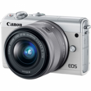 "Canon EOS M100 BK M15-45 S + IRISTA EU18 Mirrorless Camera Kit, 24.2 MP, ISO 25600, Display diagonal 3.0 "", Video recording, Wi-Fi, CMOS, White  512,00"