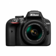 Nikon D3400 + AF-P DX 18-55 mm 1:3.5-5.6G VR SLR Camera Kit, Megapixel 24.2 MP, Image stabilizer, ISO 25600, Display diagonal 7.62 cm, Video recording, TTL, CMOS, Black  497,00