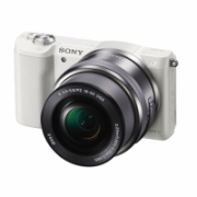 """Sony A5100 with 16-50mm lens MILC, 24.3 MP, Image stabilizer, ISO 25600, Display diagonal 7.62 """", Video recording, Wi-Fi, TTL, Magnification 0.215 x, CMOS, White, Image sensor size (W x H) 23.5 x 15.6 """"  496,00"""