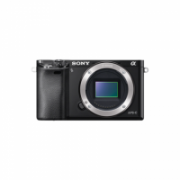 "Sony ILCE6000B.CEC Mirrorless Camera body, 24.3 MP, ISO 25600, Display diagonal 3 "", Wi-Fi, Exmor APS HD CMOS, Black, Image stabilization supported on lens  486,00"