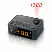 Muse Clock radio  M-178P Black, 0.9 inch amber LED, with dimmer  16,00