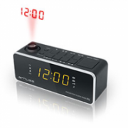Muse Clock radio  M-188P Black, 0.9 inch amber LED, with dimmer  17,00