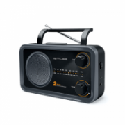 Muse 2-bands portable radio M-06DS Grey, AUX in  26,00