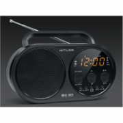 Muse M-088 R Black, Alarm function, AUX in, Portable PLL Radio with USB  29,00