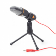 Gembird Desktop microphone with a tripod MIC-D-03 3.5 mm connector, 3.5 mm connector, Black, Built-in microphone  16,00