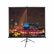 "Elite Screens Tripod Series T113UWS1 Diagonal 113 "", 1:1, Viewable screen width (W) 203 cm, Black  117,00"
