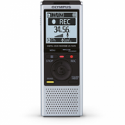 "Olympus VN-732PC Digital Voice Recorder (silver), 4GB internal memo (SP/HQ/LP: 511h/259h/1626h), 1.61"" display, WMA/MP3, microSD(HC) Slot, 2 x AAA Batt., Built-in stand  190,00"