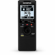 "Olympus VN-733PC Digital Voice Recorder (black), 4GB internal memo (SP/HQ/LP: 511h/259h/1626h), 1.61"" display, WMA/MP3, microSD(HC) Slot, 2 x AAA Batt., Built-in stand  219,00"