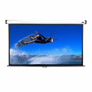 Elite Screens M100XWH Manual Pull Down Screen 100'' 16:9 / Diagonal 254cm, W 221.5cm x H 124.7cm / White case / Dual wall & ceiling instalation design / 4-side black masking border (Top: 7.6cm) / 160 Degrees viewing angle/ Auto locking system / Ea  465,00
