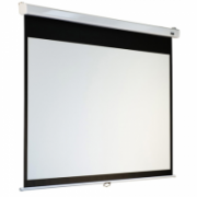 Elite Screens M119XWS1 Manual Pull Down Screen 119'' 1:1 / Diagonal 297,5cm, W 213,4cm x H 213,4cm / MaxWhite/ White case / Dual wall & ceiling instalation design / 4-side black masking border (Top: 3.8cm) / 160 Degrees viewing angle / Auto lockin  398,00